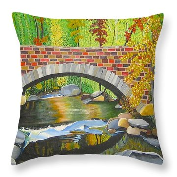 Natures Eye Throw Pillow by Donna Blossom