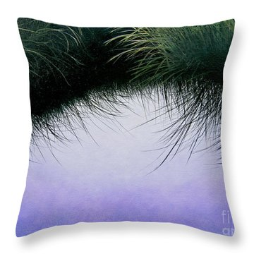Throw Pillow featuring the painting Nature's Eyelashes by Cindy Lee Longhini
