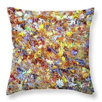 Natures Fall Falling Patterns Throw Pillow