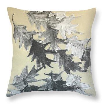 Natures Fallen Trash Throw Pillow