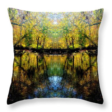 Natures Gate Throw Pillow