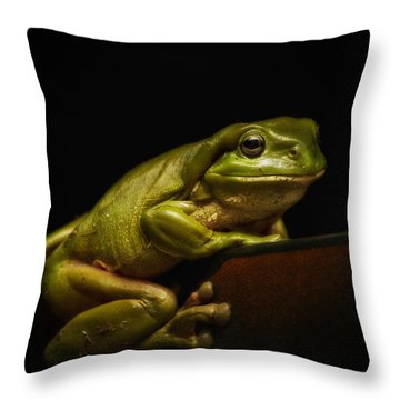 Natures Green 01 Throw Pillow by Kevin Chippindall