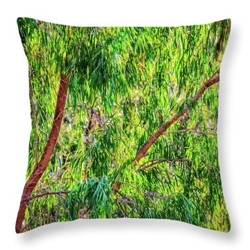 Natures Greens, Yanchep National Park Throw Pillow by Dave Catley