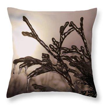 Natures  Ice Sculpture Throw Pillow