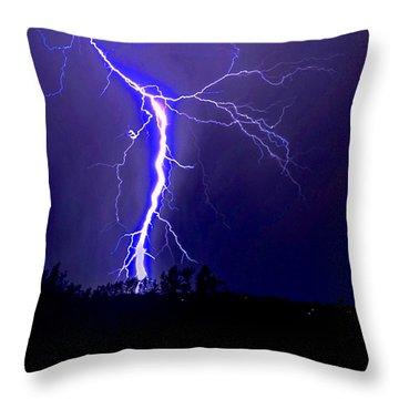 Nature's Light Show Throw Pillow