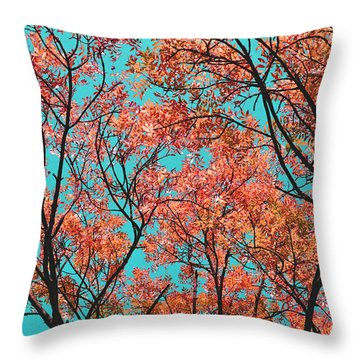 Throw Pillow featuring the photograph Natures Magic - Orange by Rebecca Harman
