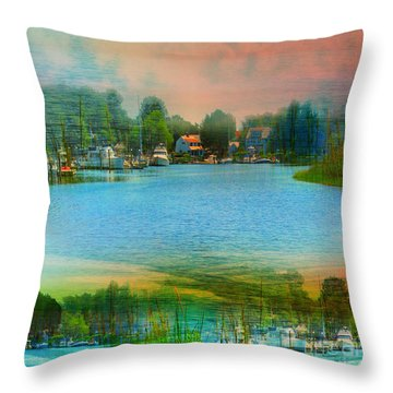 Nature's Magical Sunsets Throw Pillow by Judy Palkimas