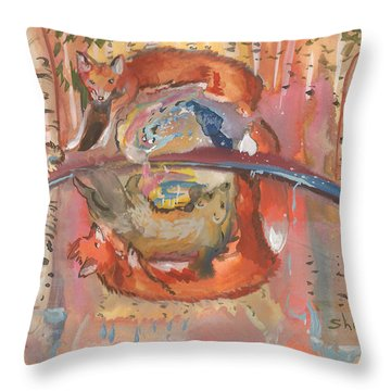 Nature's Reflection Throw Pillow