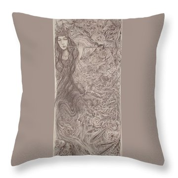 Nature's Song Throw Pillow