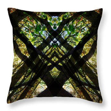 Natures Stain Glass Throw Pillow
