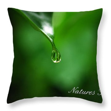 Natures Tear Throw Pillow