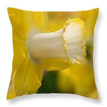 Nature's Trumpet Throw Pillow by Charles Dobbs