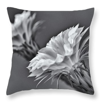Nature's Trumpets Throw Pillow by Shelly Gunderson