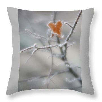 Throw Pillow featuring the photograph Nature's Valentine by Diane Alexander