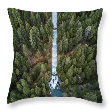 Natures Waterslide  Throw Pillow