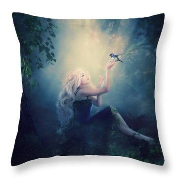Nature's Wish Throw Pillow