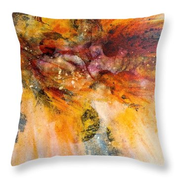 Naturescape In Red Throw Pillow