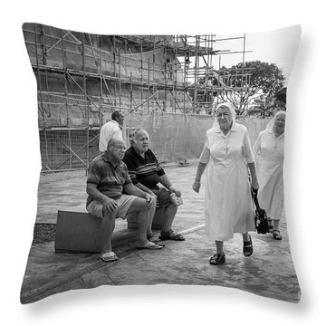 Naughty Boys Throw Pillow