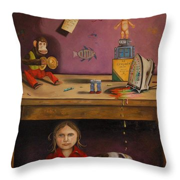 Naughty Child Throw Pillow by Leah Saulnier The Painting Maniac