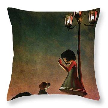 Naughty Naughty Throw Pillow