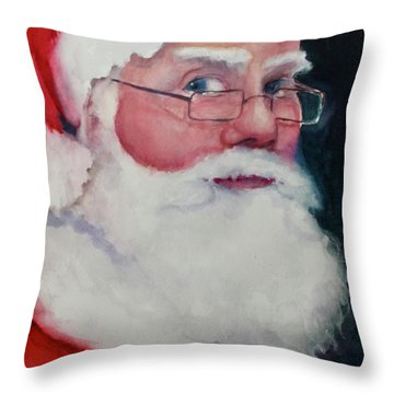 Naughty Or Nice ? Santa 2016 Throw Pillow