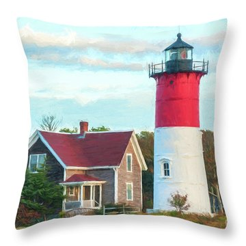 Nauset Light Throw Pillow