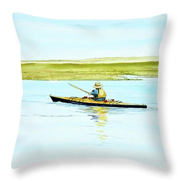 Nauset Kayaker Throw Pillow