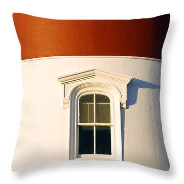 Nauset Light Detail Throw Pillow by John Greim