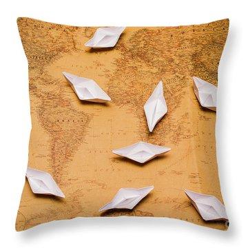 Nautical Adventure Throw Pillow