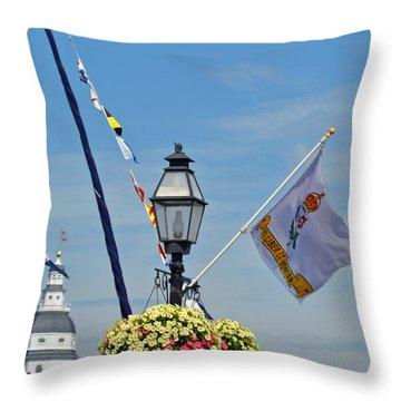 Nautical Annapolis Throw Pillow