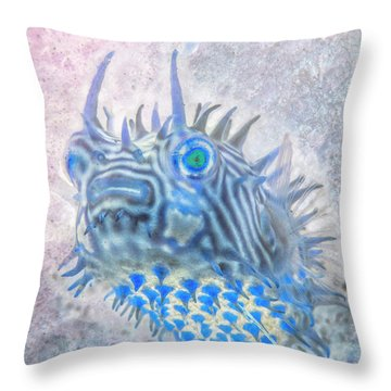 Throw Pillow featuring the photograph Nautical Beach And Fish #12 by Debra and Dave Vanderlaan