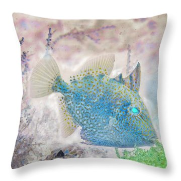 Throw Pillow featuring the photograph Nautical Beach And Fish #2 by Debra and Dave Vanderlaan