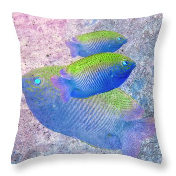 Throw Pillow featuring the photograph Nautical Beach And Fish #3 by Debra and Dave Vanderlaan