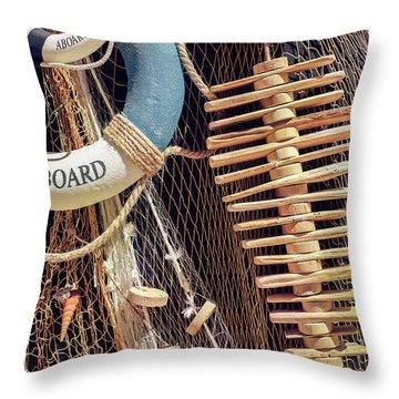 Nautical Handicraft Throw Pillow