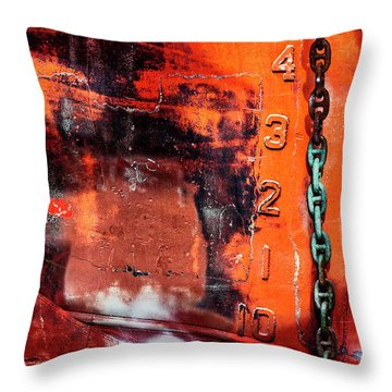 Nautical Industrial Art Again Throw Pillow