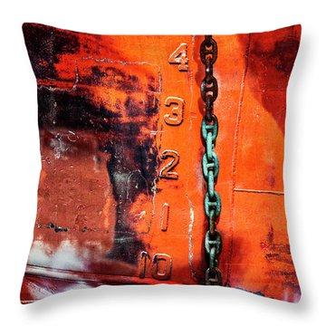 Nautical Industrial Art Again Square Throw Pillow