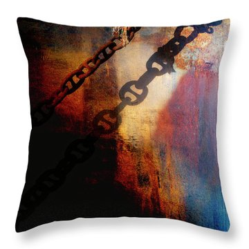 Nautical Industrial Art Throw Pillow