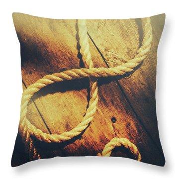 Nautical Infinity Throw Pillow