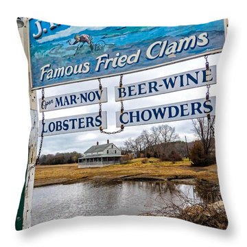 Nautical Landmarks In Essex Massachusetts Throw Pillow