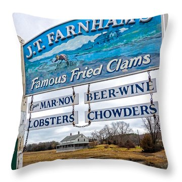 Throw Pillow featuring the photograph Nautical Landmarks In Essex Massachusetts by Nancy De Flon
