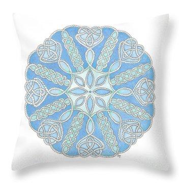 Nautical Mandala 2 Throw Pillow