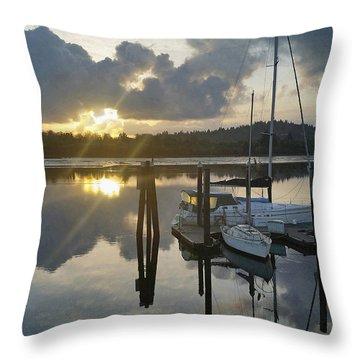 Nautical Mood Throw Pillow