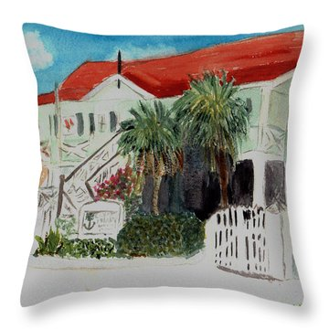 Nautical Museum Georgetown Throw Pillow by Donna Walsh