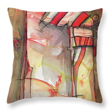 Nautical Mystery Throw Pillow by Sandra Church