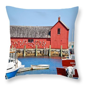 Nautical Rockport Days Throw Pillow
