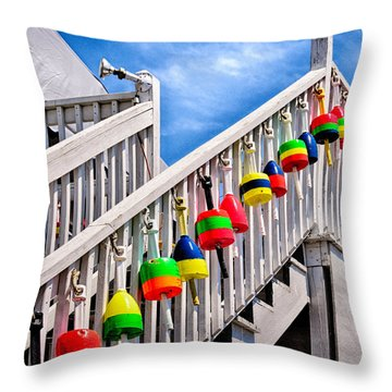 Nautical Stairway Throw Pillow by Tricia Marchlik