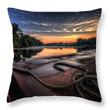 Nautical Sunrise Throw Pillow by Everet Regal