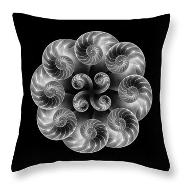 Throw Pillow featuring the photograph Nautilus Abstract Art by Tom Mc Nemar