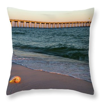Nautilus And Pier Throw Pillow