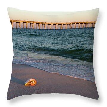 Nautilus And Pier Throw Pillow